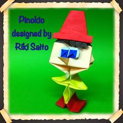 Pinokio (Riki Saito) (Riki Saito Origami) Tags: origami pinokio