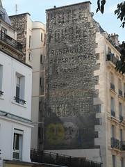 Publicit peinte (Aout 2012) (Ostrevents) Tags: street paris wall paint peinture rue mur publicit wallpaint advertissement