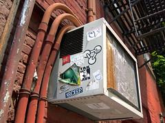 Tagged AC (UrbanphotoZ) Tags: nyc newyorkcity ny newyork manhattan stickers pipes navy airconditioner fireescape locomotive ac unionsquare eastside tak chc redbrick 2712 10deep orderfoodonline prologueprofiles