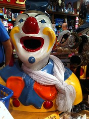 Scary Clown in the AVAM shop