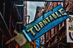 The turntable (Insomnious247) Tags: signs brick fantanalley victoriabc theturntable insomnious247