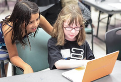 Hey, that's a cool game you made! (The Great Adventure Lab) Tags: girls technology scratch ggs vgp wedo legorobotics tgal videogameprogramming thegreatadventurelab girlsgetscience videogameprogrammingwithscratch