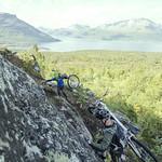 Klatring opp på fjellet på lørdag
