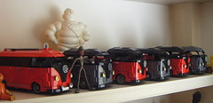 moc lego vw split screen fire truck, microbus pick ups and crew cabs (redfern1950s) Tags: door vw barn lego ups crew vans split pick cabs sceen