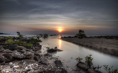 Mindil Beach Sunset (The0dora Photography) Tags: sunset sky beach rocks inlet shrubs sigma1020 longexposurehdr canon7d nd500 theodoraphotography triggertrap