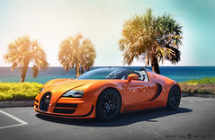 Vitesse. (AESDUB) Tags: orange beach bugatti veyron vitesse awesomeness veryon vitese