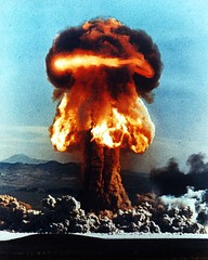 Nuclear weapons test in Nevada in 1953