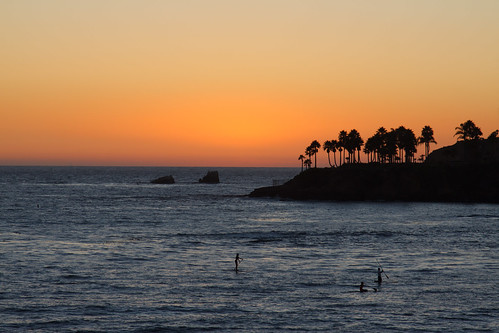 Sunset Surfing at Laguna Beach