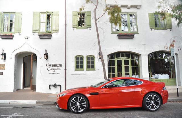 california red ian monterey nikon carmel parked astonmartin ornage d90 altamore v12vantage rossodino