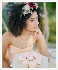 garden tea party inspired shoot (Gaby J Photography) Tags: wedding 120 film mediumformat kodak dreamy bridal gardenparty teaparty whimsical pentax67 pinkcupcakes peachdress freedsbakery gabyjphotography honeypieheadbands peachweddingdressbystaysilee makeupbycelinaosborn