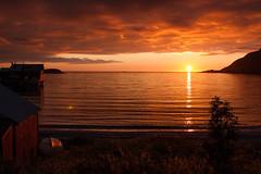 Sunset (afloden) Tags: sunset sea vacation food sun mountain sol beach water berg norway backlight clouds strand boat horizon h2o mat ferie vann skyer senja fjell solnedgang troms sj rhubard horisont rabarbra motlys