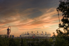 "The Sun Sets on the Olympic Park • <a style=""font-size:0.8em;"" href=""http://www.flickr.com/photos/76512404@N00/7984837267/"" target=""_blank"">View on Flickr</a>"