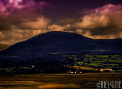 Hill Range (Lewis-Ads) Tags: england mountains field grass wales island purple shell surreal hills hdr shellisland