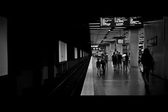 Black and White (Matthieu Lepoint photo) Tags: voyage street travel people woman white black paris men art station train dark underground subway noir noiretblanc sale rail dirty blanc parisian rer salet parisiens