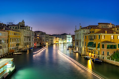 Venice Canal at Night (todd landry photography) Tags: bridge venice sunset italy green photography canal nikon grand todd hdr landry accademia d90