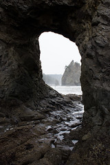 Hole in the Wall (mhitchner1) Tags: ocean light shadow mountain west beach rock wall canon lens landscape island see coast washington waves view hole state tide erosion pools kit through 1855mm 1855 passage efs rialto t3i erode