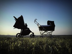 Rolling Strolls (simonerossi129) Tags: flickrfriday fridayflickr passingthetime countryside campagna tramonto sunset strollers stroller carrozzine carrozzina passeggini passeggino flickr friday