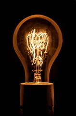 Vintage Lightbulb round (Kevin Stuke) Tags: vintage lightbulb round rund glhbirne black warm tone temprature light orange wire classic