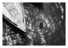out of the ganges (handheld-films) Tags: india varanasi benares river ganges water man bathing spiritual hindu religious sacred holy ritual blackandwhite mono travel documentary uttarpradesh abstract subcontinent