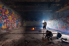 Fire in the Hole (waterfallout) Tags: moody atmosphere atmospheric abandoned radarstation military airstation bando bandos haunted haunting ghosts newfoundland canada people persons person graf graff graffiti derelict apocalypse apocalyptic postapocalypse postapocalyptic ue urbex urbanexploring urbanexploration