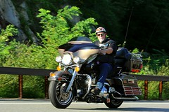 Harley-Davidson Ultra Classic 1608203554w (gparet) Tags: bearmountain bridge road scenic overlook motorcycle motorcycles goattrail goatpath windingroad curves twisties outdoor vehicle
