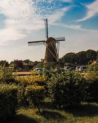 Dutch Windmill in Meddo, Netherlands. (terhuerne) Tags: summer landscape wind mill meddo dutch netherlands windmill architecture