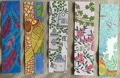Marica  Zottino, Mes marque-pages  colorier : plumes et feuilles  (Rustica Editions) Feutres  alcool et crayons de couleurs (delphinecingal) Tags: crayonsdecouleurs feuilles maricazottino mesmarquepagescolorier plumes rusticaeditions colors couleurs coloring coloriage feutresalcool coloriages