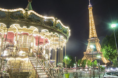 (MariaRP91) Tags: torre torreeiffel carrousel luces noche nocturna nocturno pars francia europa