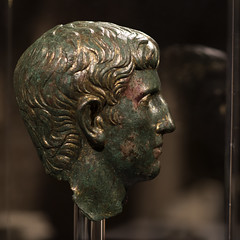 Roman gilded bronze portait of a man from Augusta Taurinorum, 3 (diffendale) Tags: museodiantichit torino turin piemonte piedmont italy italia museum museo museu muse   mze artifact display exhibit  ancient antico antique archaeological archeologico roman romano rmisch romain   roma bronze bronzo portrait ritratto male mascihile man uomo julioclaudian giulioclaudio 1stcbce 1stcce late1stcbce early1stcce lastquarter1stcbce 4thquarter1stcbce 1stquarter1stcce 1sthalf1stcce 2ndhalf1stcbce imperial romanempire augustataurinorum pleiades:findspot=383580