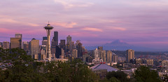 Seattle Sunset from Kerry Park (dr_stan3) Tags: seattle sunset kerrypark purple evening spaceneedle mtrainier sky clouds city skyline