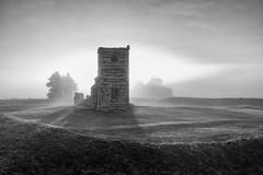 Misty Sunrise (Derek Robison) Tags: mist cranborne knowltonchurch sunrise ruins dorset architechture