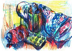 PROYECTO 132-36 (GARGABLE) Tags: angelbeltrn gargable bocetos composicin colores papel cartulinas linea letras proyecto 132 35 36 uskspain basura
