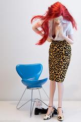 ChicBarbieDesigns Leopard Print Skirt (edwicks_toybox) Tags: 16scale chicbarbiedesigns animalprint femaleactionfigure fireredrose leopardprint phicen seamlessbody skirt verycool