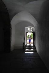 L'uscita (meghimeg) Tags: 2016 sluderno castello castle estate summer vacanze holydays uscita exit sole sun ombra shadow donna woman controluce backlight