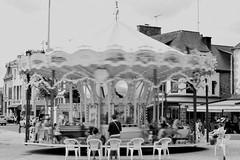 La vie est un carrousel / Life is a carrousel (david.suhard) Tags: carrousel bw bretagne life streetphoto noiretblanc