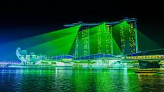 Green Laser Shower (aotaro) Tags: greenlasers greenlasershower laserlights wonderfulllightandwatershow lasers marinabaysands singapore wonderfullshow fe3518z marinabay ilce7m2 wonderfull