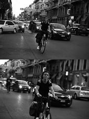 [La Mia Citt][Pedala] (Urca) Tags: milano italia 2016 bicicletta pedalare ciclista ritrattostradale portrait dittico bike bicycle nikondigitale mir biancoenero blackandwhite bn bw 88990