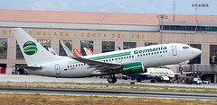 D-AGES BOEING 737-800 (douglasbuick) Tags: aircraft boeing b737800 dages jet plane germania german germany takeoff agp malaga airport aviation spain flickr airliner airlines airways nikon d40