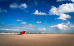 Schiermonnikoog III (Ans van de Sluis) Tags: ans van de sluis august schiermonnikoog blue clouded clouds landscape nature sea ship sky summer