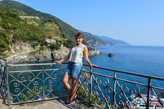 (ola_alexeeva) Tags: italy terre 5      cinque september sun  liguria  mountains sea seaside   russian girl