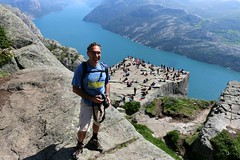 Above the famous 604 meters (daniel.virella) Tags: daniel eu me byz norway norge mountains valley fjord preikestolen lysefjorden nature people landscape hiking outdoor picmonkey
