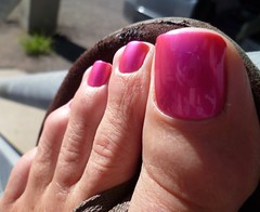 Pink - up close and personal! (toepaintguy) Tags: male guy men man masculine boy nail nails fingernail fingernails toenail toenails toe foot feet sandal sandals polish lacquer gloss glossy shine shiny sexy fun daring allure gorgeous glitter pure ice free fall pink shimmer incredible audacious