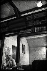 MICHAEL SKAU ~ POET RX01296 (Cyclops Optic) Tags: poet poetry writer omaha bw michaelskau