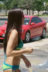 Twin Peaks RR Car Wash (MarkScottAustinTX) Tags: car tx wash bikini twinpeaks roundrock 2012