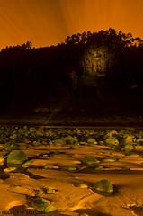 Playa España (Athalfred DKL) Tags: light sunset españa lightpainting luz night painting children atardecer long exposure nocturnal asturias playa beam torch lp nocturna cod villaviciosa con pintar darklight larga haz exposición asturies linterna linferno lightgraff dkl
