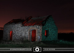Old House (xyzphotography) Tags: england night dark photography unitedkingdom britain leicester sl lonely losted slowshutterspeed noctural
