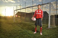 Soccer (Courtney Earls) Tags: light sunset senior field vintage fence goal nikon uniform dress natural soccer flare jersey adidas balancing 18105 d90