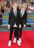 John Grimes, Edward Grimes aka Jedward 'Keith Lemon the Film' World premiere held at the Odeon West End