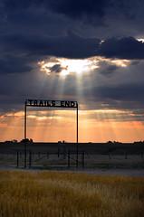Trail's End (C-Dals) Tags: morning sky sun sign sunrise nikon gate saskatchewan nikkor duderanch guestranch 70300mmf4556gvr d5100