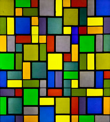 Pattern recognition (campra) Tags: blue red france green art window glass colors yellow museum square pattern centre stainedglass musee block lead pompidou metz
